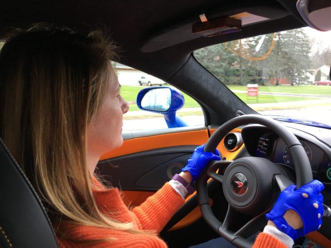 Lisa in McLaren
