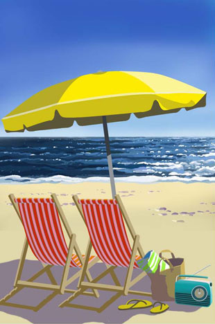 Oren Sherman - Beach Umbrella - Yellow