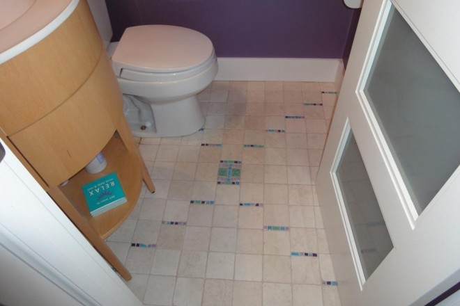 DIY no cut bathroom tile