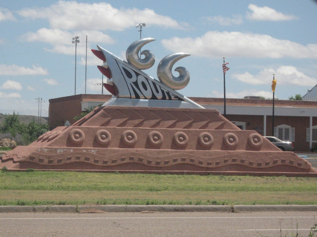 Route 66 art sculpture