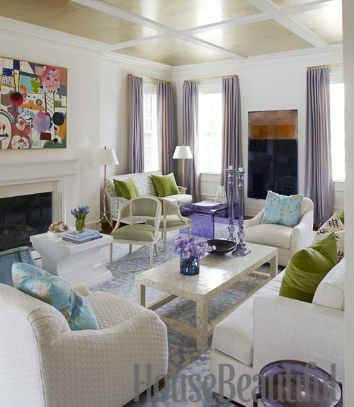 traditional - House Beautiful Living Room Colors