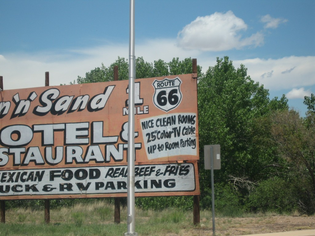 old road signs from Route 66