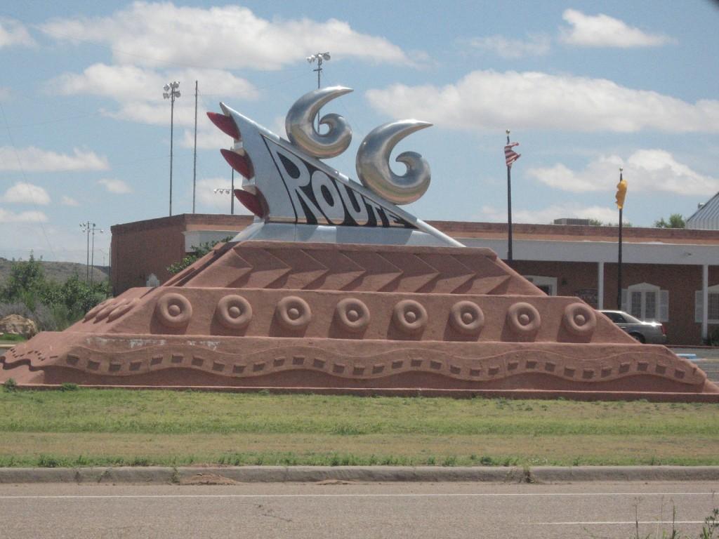 Route 66 art sculpture