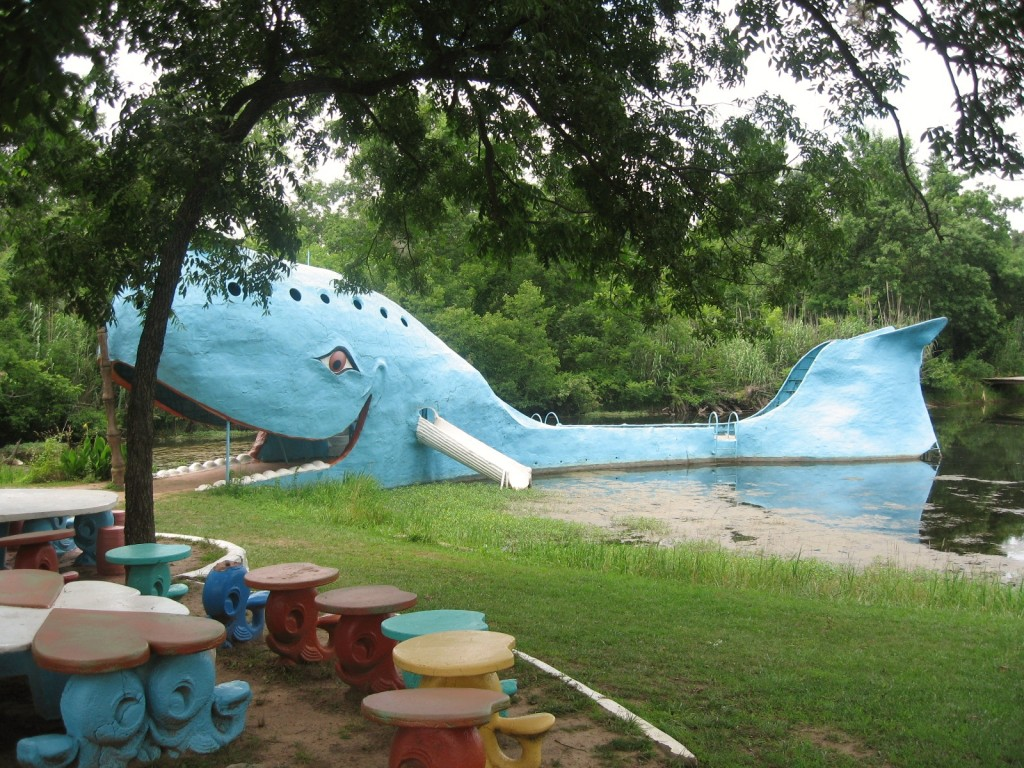 The Blue Whale along Route 66