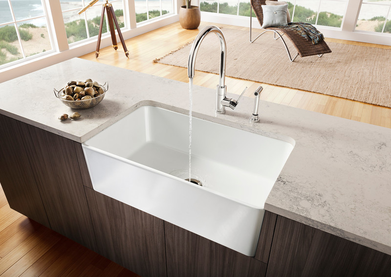 new blanco farm sink for contemporary kitchens ~ Waschbecken Zink