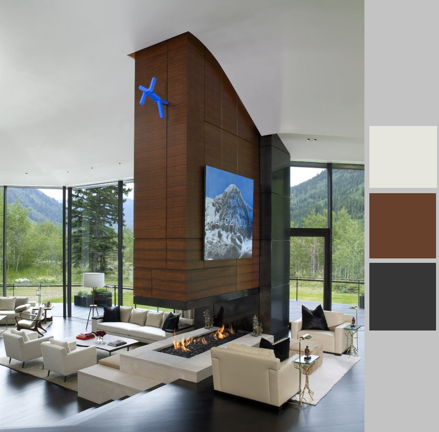 color blocking in the great room