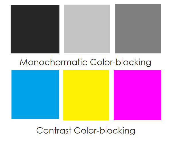 color blocking how to
