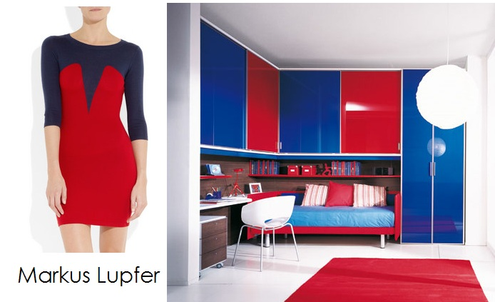 color blocking with fashion and the bedroom