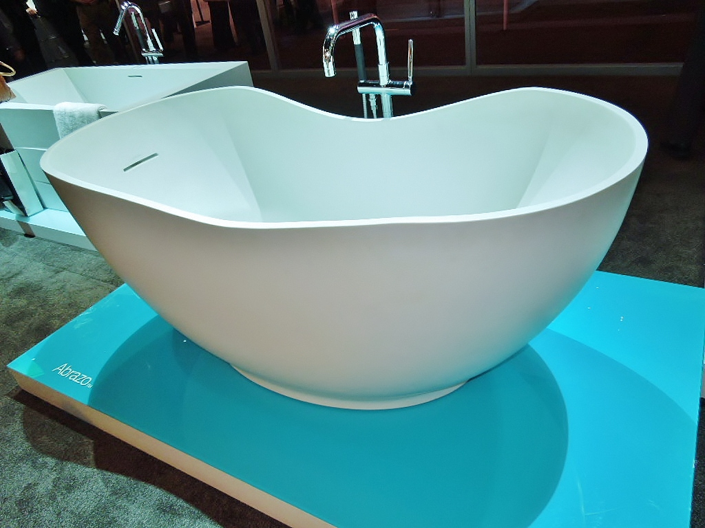 Soaking Up The Bathroom Trend - Freestanding tub against wall