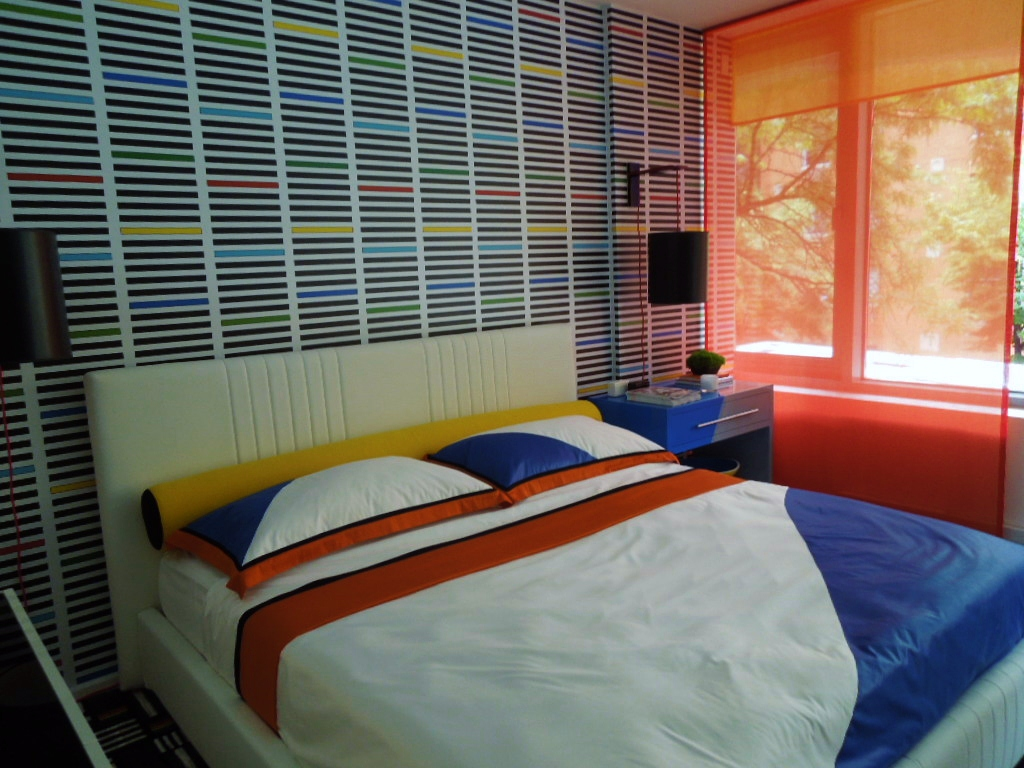 Bold colors for a boy's bedroom
