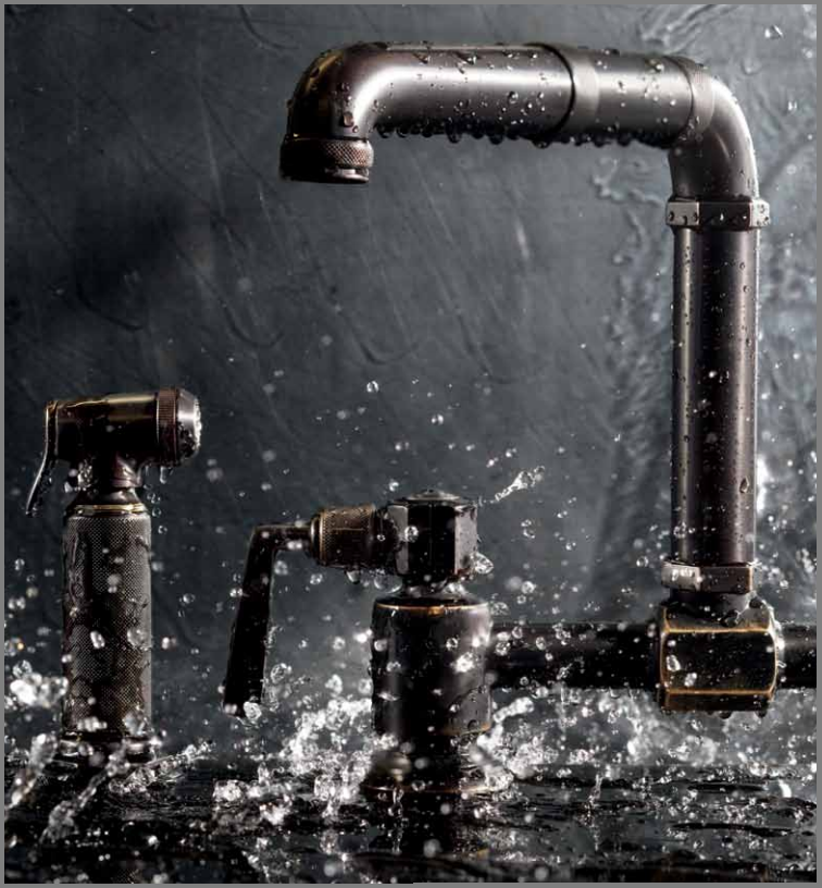 Waterworks Takes on Steampunk With New Collection – Bathroom and Kitchen Faucets