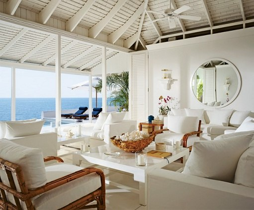 Beachy interior for Ralph Lauren via AD photo by Durston Saylor