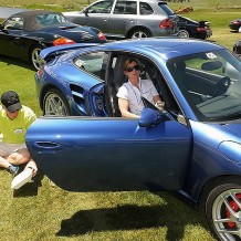 Jeff and Lisa with Porsche Turbo