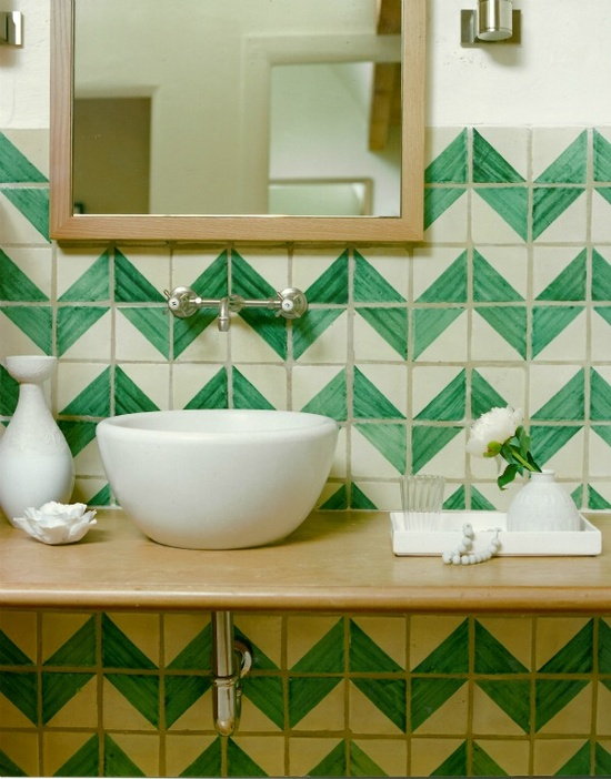 Tile bathroom via Pinterest
