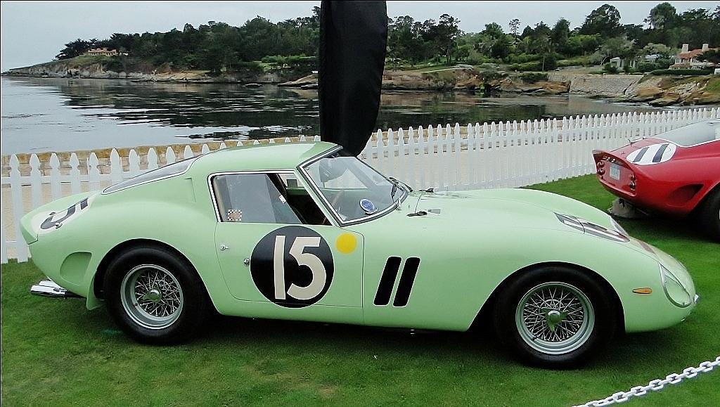 Unusual mint green Ferrari 250 GTO