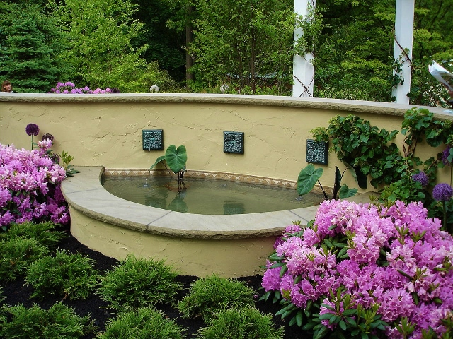 Above ground water feature