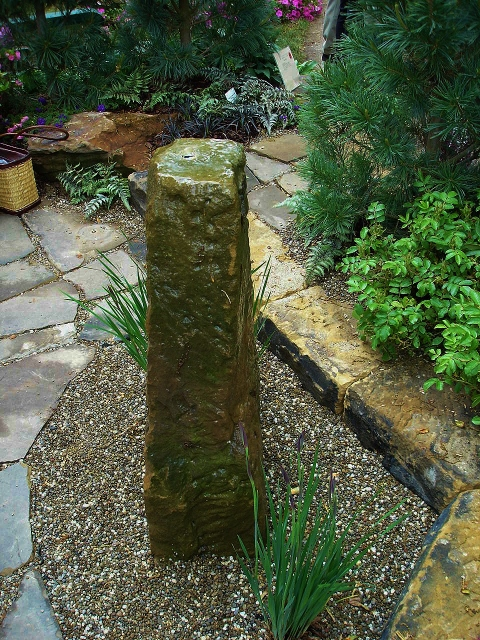 Above ground fountain made from stone