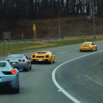 Roadside Pick-Up: Porsche, Lambo and Ferrari