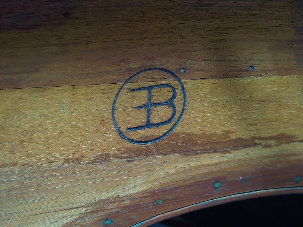 Bugatti insignia on carriage from 1800s