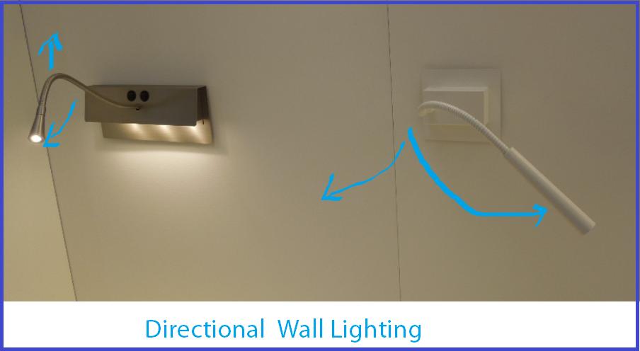 Directional wall lights from Tango Lighting