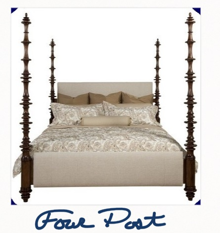 Four Post Upholstered Bed