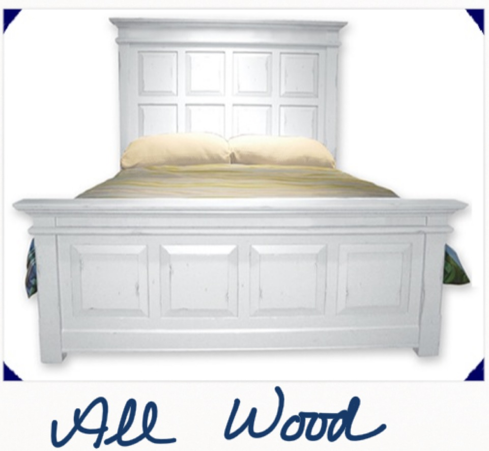 Painted wood bed