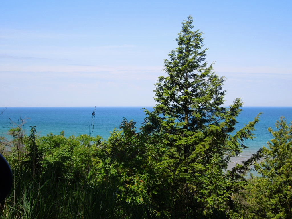 Overlooking Lake Michigan from M-119
