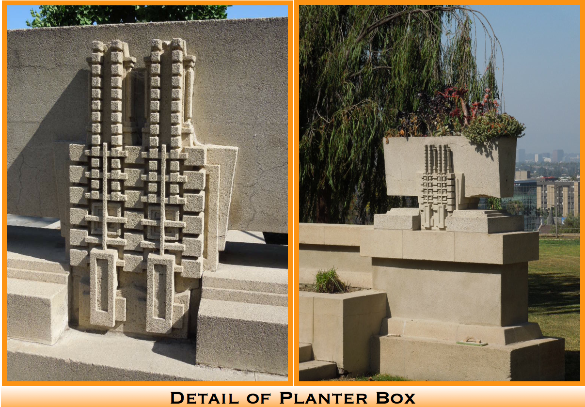Details of planter box at Hollyhock House