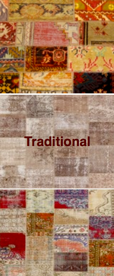 Patchwork Rugs in Traditional Colors