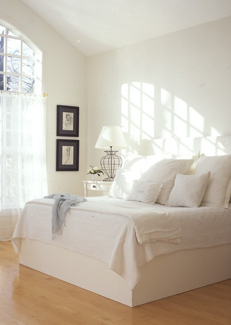 White Bedroom via House and Home