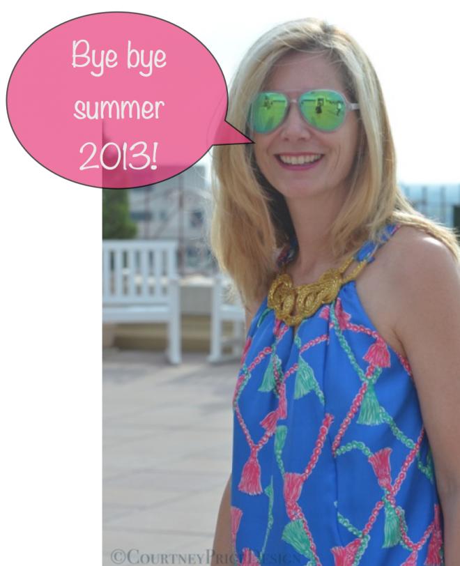 Lisa saying goodbye to summer 2013