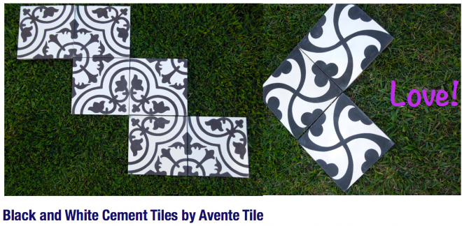 Black and White Tile by Avente Tile