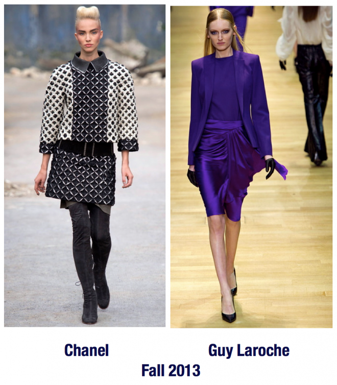 Fall 2013 Fashion Colors for Chanel and Guy Laroche