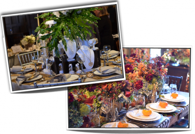 Charity table settings