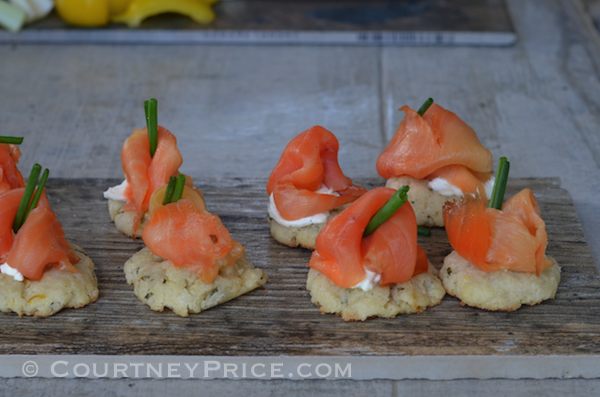 smoked salmon rosemary buttons