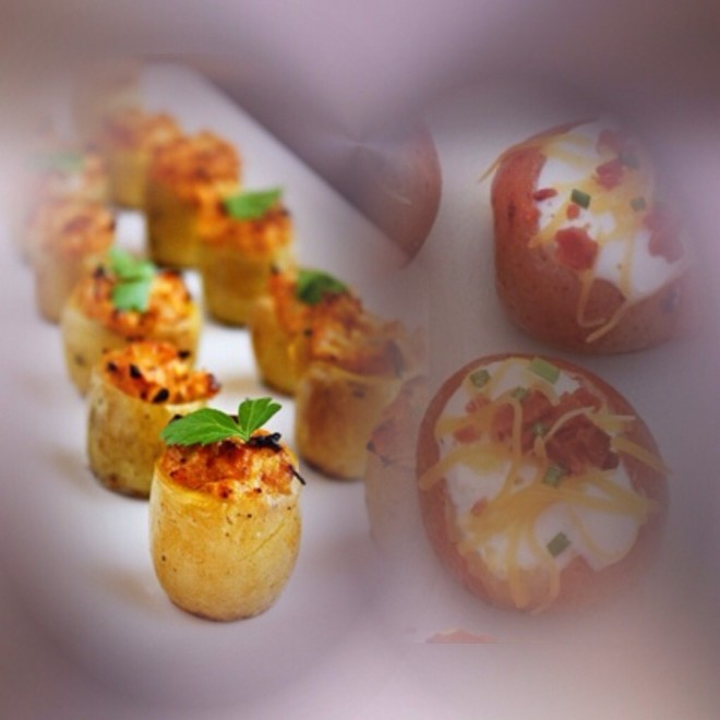 Mini Potato appetizer via Chef Derek Paterson