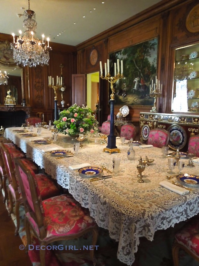 Dining room at Hillwood