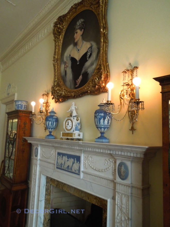 Mantel in Adam Bedroom at Hillwood