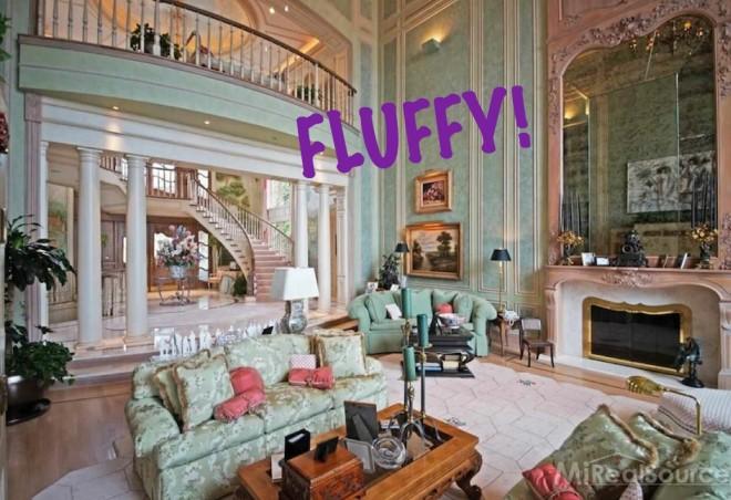 Dated feminine living room