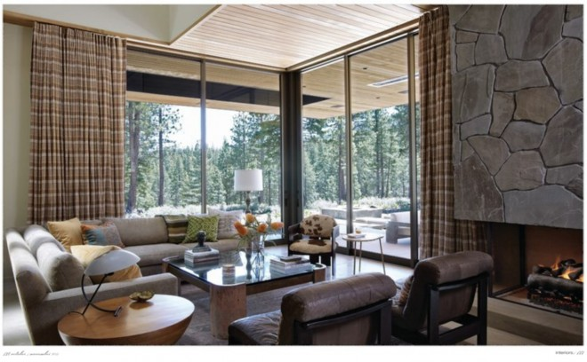 Lake Tahoe LR via Interiors Magazine