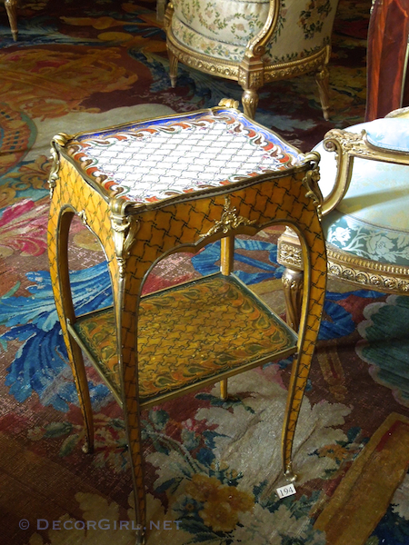 Musee Nissim de Camondo Sevres porcelain table