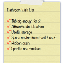 Bathroom wish list