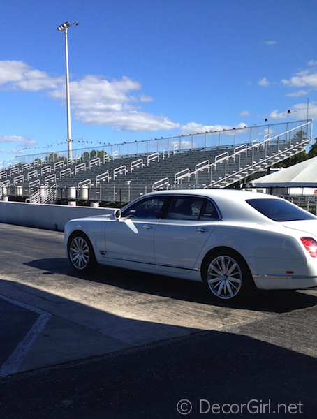 Drag strip with Bentley Mulsanne