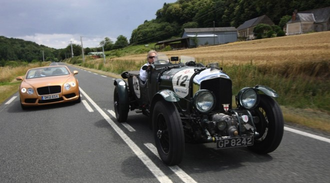 Bentley Continental GTC V8 & 4 1.2 Litre Blower on way to 2012 Le Mans Classic