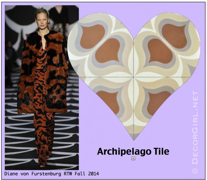 DVF Fall 2014 and Archipelago Tile