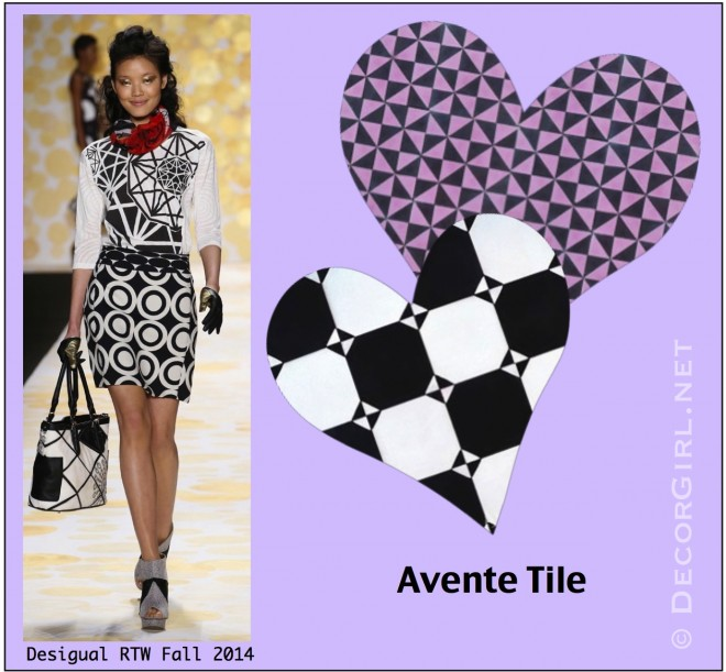 Desigual Fall 2014 and Avente Tile