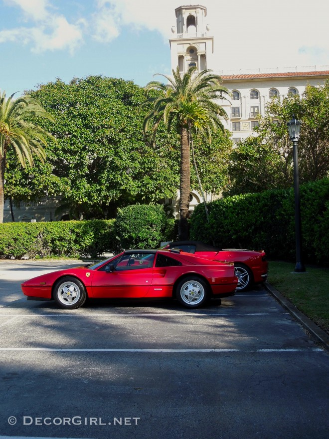 Ferraris arriving for Cavallino Classic