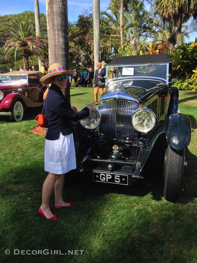 Lisa and vintage Bentley