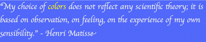 Matisse Quote