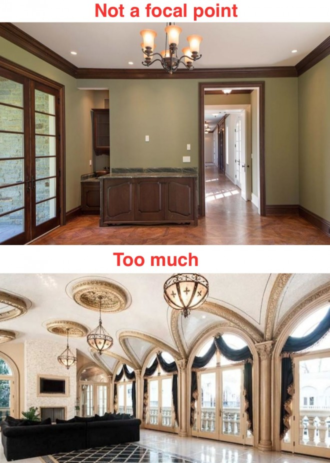 Bad use of crown molding